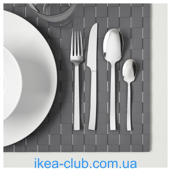 ИКЕА (IKEA) CLUB | 103.045.34, СМАКГЛАД, Столовый набор,24 предмета, нержавеющ сталь
