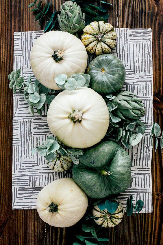Sage and White Autumn Tablescape