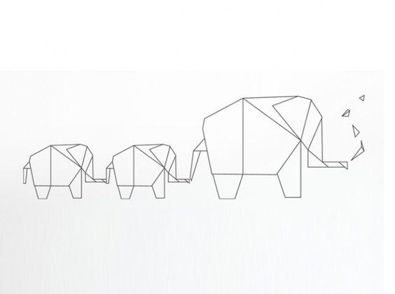 Stickers enfant origami dezign