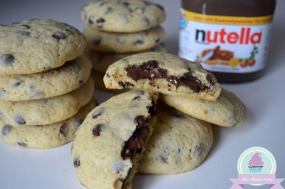 Miss-ButterCake : Chocolate Chip Cookies mit Nutella Füllung