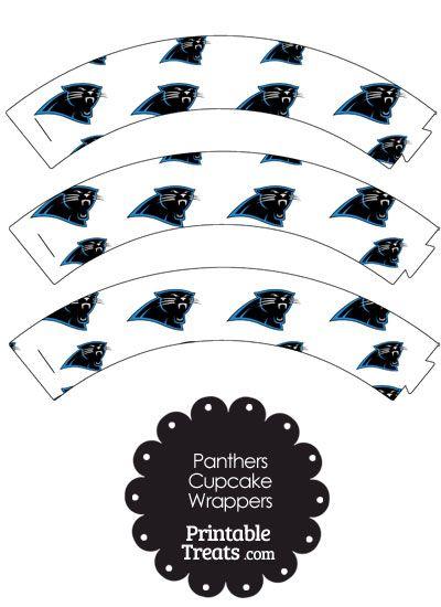 Carolina Panthers Logo Cupcake Wrappers from PrintableTreats.com