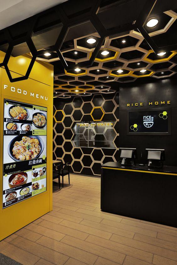 Sweet Cuisine Restaurant in Guangzhou, China: Fabulous Playful Honeycomb Rice Home Interior Food Menu