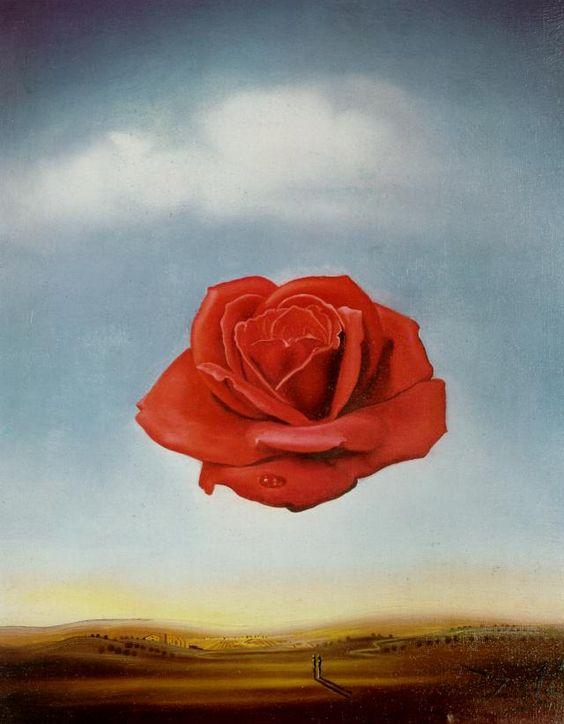 One of my favorites, Salvador Dalí - Meditative Rose [1958]
