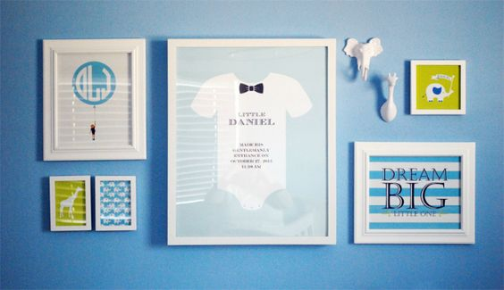 Blue nursery with a gallery wall for a little gentleman - #gallerywall