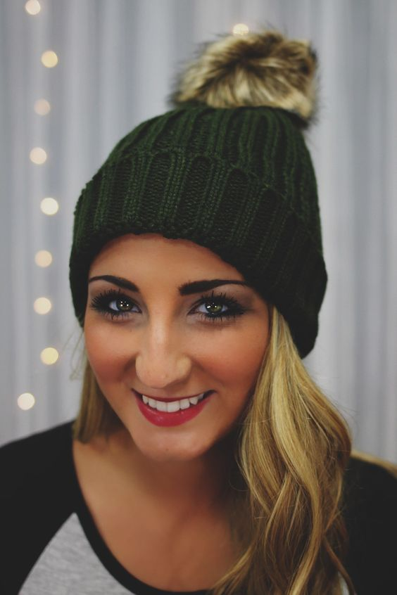 Olive Faux Fur Puff Beanie | UOIonline.com: Women's Clothing Boutique