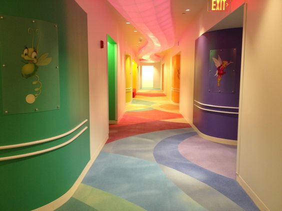 Designing healthcare facilities - especially ones that serve patients who are children - must be comforting, inviting and warm.  This picture shows Milliken's Color Wash collection in a recent installation at Baystate Pediatric Center in Springfield, MA.