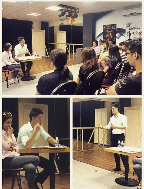 Sudents of acting course had a meeting with actor BinhMinh