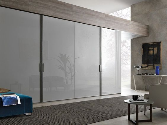 Good contemporary sliding door wardrobe in lacquered glass SQUARE by Pagnon u Pelhaitre Ligne Roset Home Decorating Handy Hints Pinterest