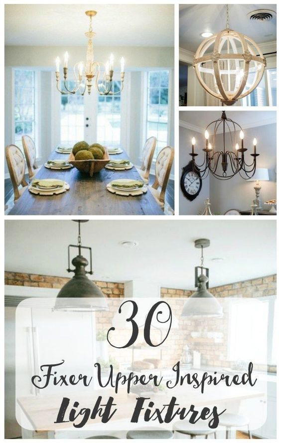 Fixer Upper Lights Inspired By Joanna Gaines Style