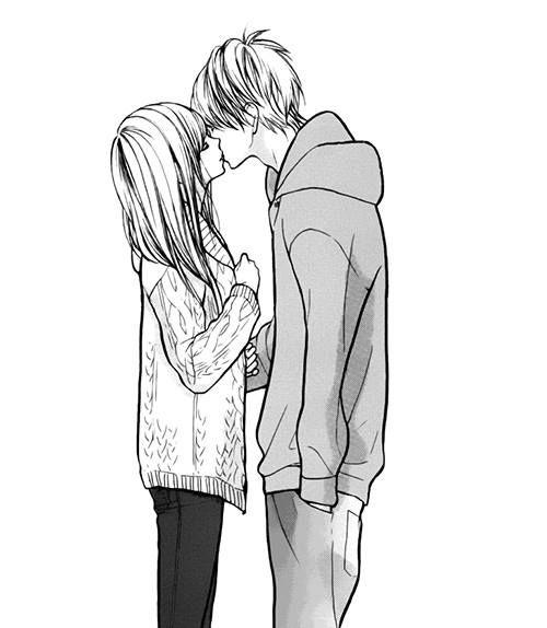 FINAL• Los dos chicos se sorprendieron, y luego antes de separarse (ya que era el ultimo dìa de la clase) ello se decidiò a besarla..