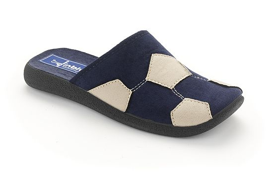 Inblu Soccer Ball Slipper, Blue - Blue - LOVE THESE!