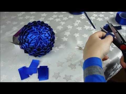 11 Jak Zrobic Bombke Styropianowa Ze Wstazki Karczoch Tutorial Youtube Quilted Christmas Ornaments Diy Lace Ribbon Flowers Origami Christmas Ornament