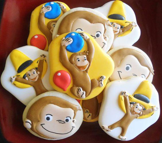 Hey, me encontré con este anuncio realmente impresionante en Etsy http://www.etsy.com/listing/130880580/curious-george-decorated-cookies-2-dozen:
