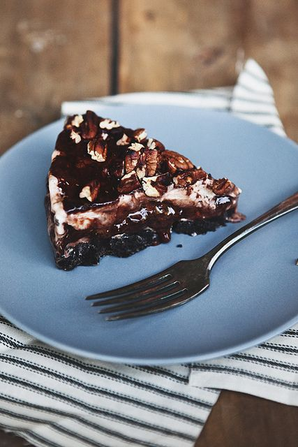 Hot Fudge and Ice Cream Pie by the little red house
