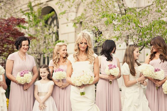 blush pink bridemaid dresses for 2014 color weddings