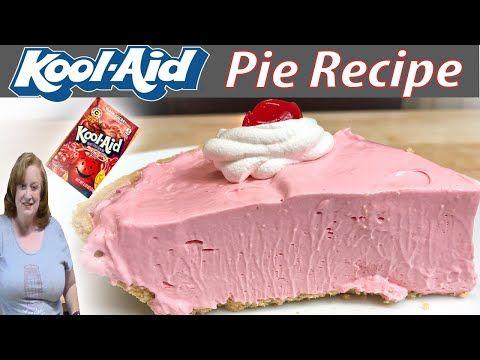 Kool Aid Pie Vintage Recipe Bake With Me 4 Ingredient No Bake Easy Pie Youtube Baking Recipes Dessert Ingredients Cheesecake Recipes