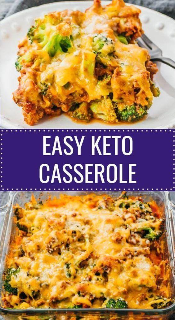牛ひき肉とブロッコリーのケトキャセロール Keto Recipes Dinner Dinner With Ground Beef Keto Recipes Easy