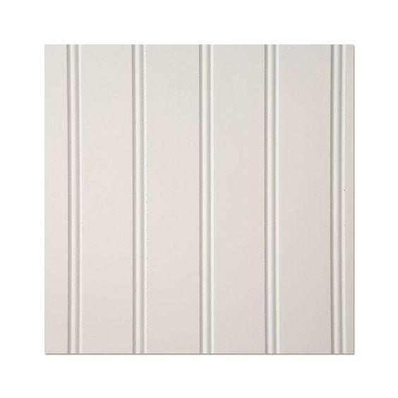EUCATILE 32 sq. ft. 3/16 in. x 48 in. x 96 in. Beadboard White True Bead Panel