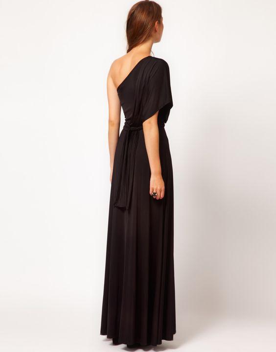 Image 2 ofPearl One Shoulder Maxi Dress
