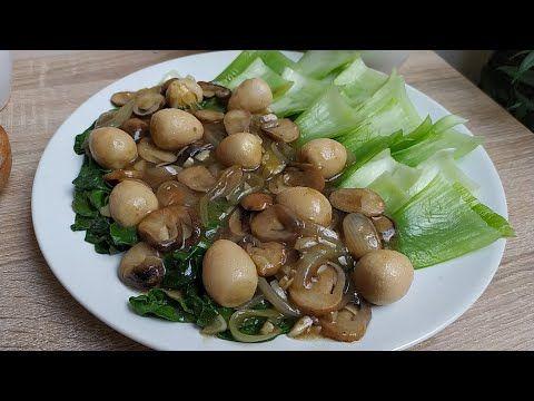 Resep Pok Choy Jamur Telur Puyuh Dengan Bumbu Yang Kental Banget Youtube Jamur Resep Masakan Masakan