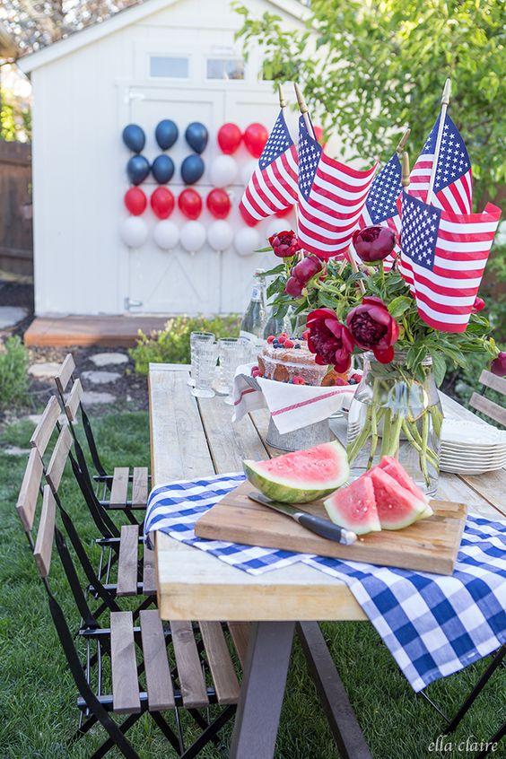 Patriotic Balloon Flag for 4th of July or Memorial Day. #easy #partyidea #patriotic #memorialday #4thofjuly