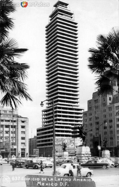 Construcción de la Torre Latinoamericana. Ca. 1955.