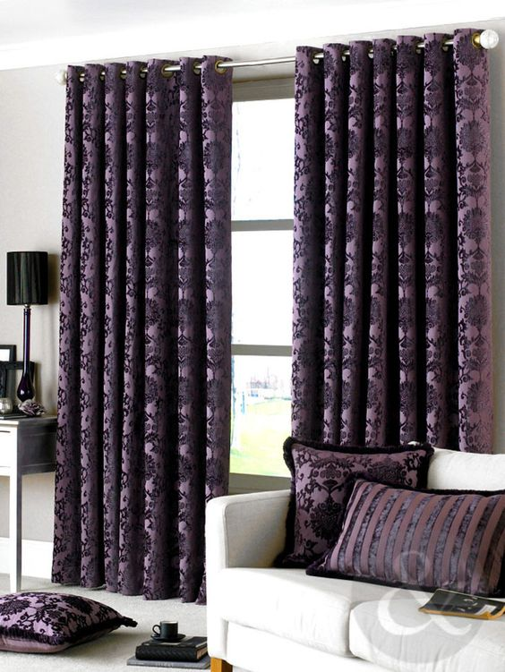 Purple Damask Curtain Color Palette Purple Pinterest Damasks Damask Curtains And Purple