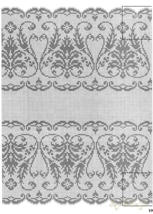 "Filet crochet or cross stitch ""lace"""