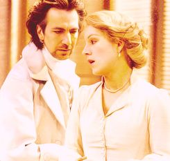 """Alan Rickman and Juliet Stevenson, 'Les Liaisons Dangereuses,' also co-starred in the 1990 film, """"Truly, Madly, Deeply."""":"""