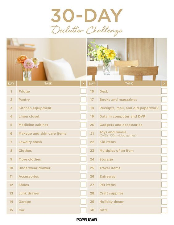 Get Organized With the 30-Day Declutter Challenge: