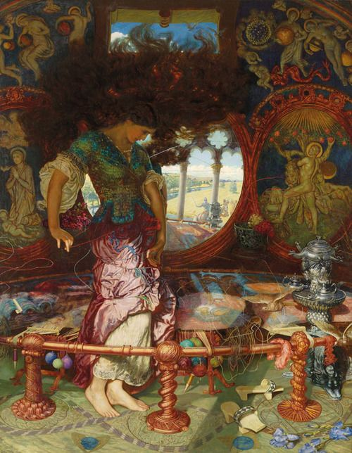 osmosis-art:    William Holman Hunt's The Lady of Shalott, c. 1890-1905