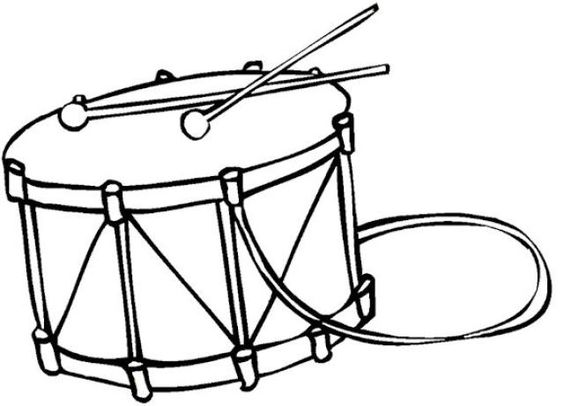 Drums Coloring Pages And Coloring On Pinterest Drum Coloring Page