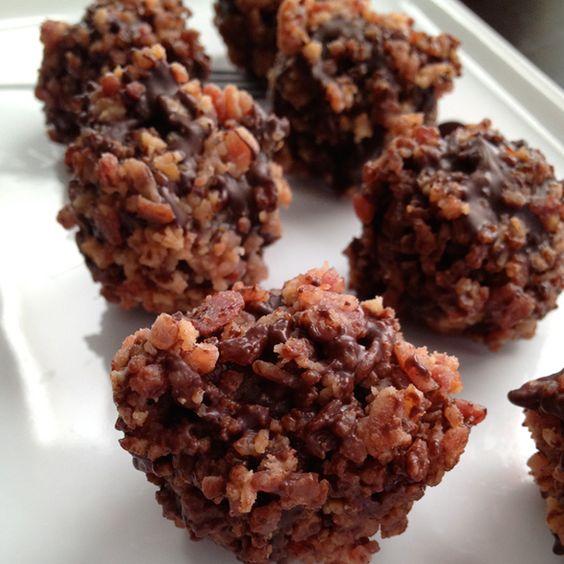 Bacon Syrah Dark Chocolate Truffles. Yes. Please.