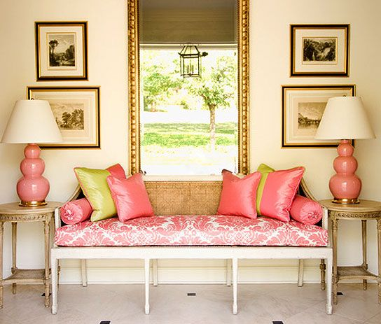 Driven By Décor: Preppy Pink and Green Home Décor: