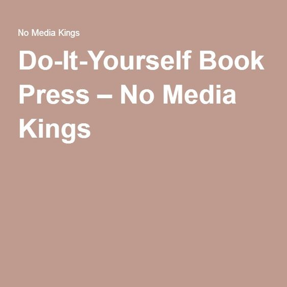Do it yourself book press no media kings portfolio pinterest do it yourself book press no media kings portfolio pinterest books solutioingenieria Choice Image