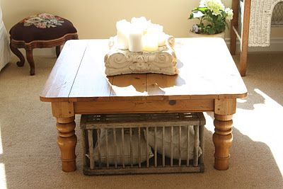 old chicken crate