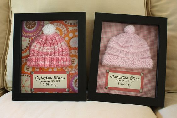 Shadow boxes with hospital hats! OMG!