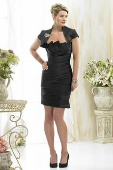 Modern mother of the bride dress with beautifully designer neck line. Jacket with broach included.