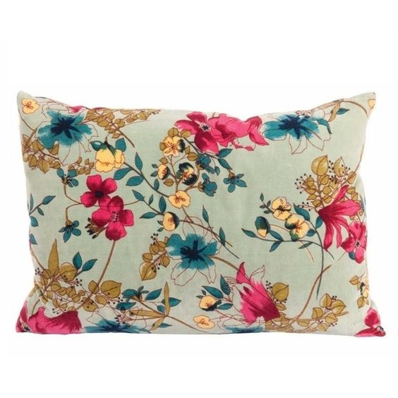 velvet floral cushion found on polyvore featuring home home decor throw pillows velvet