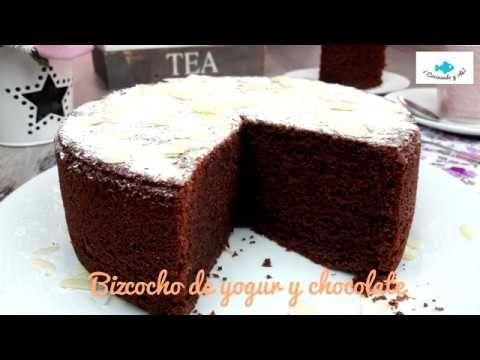 Bizcocho De Yogur Yogurt Y Chocolate Muy Esponjoso Bizcochodeyogur Bizcochodeyogurt Youtube Con Imagenes Reposteria Yogurt Tartas