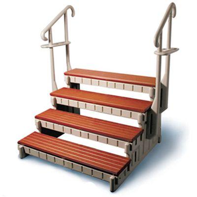 36 signature swim spa step by confer plastics swim spa stairs hot tub accessories spa. Black Bedroom Furniture Sets. Home Design Ideas