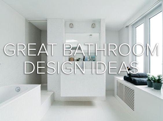 bathroom design ideas from @domino magazine