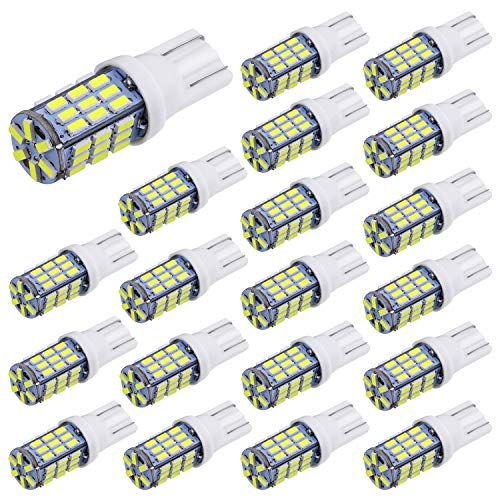 Aucan 20pcs Super Bright Rv Trailer T10 921 194 42 Smd 12v Car Backup Reverse Led Lights Bulbs Light Width Lamp Xenon White Cars Motorbikes Led Replacement Bulbs White Light Bulbs Light Bulb