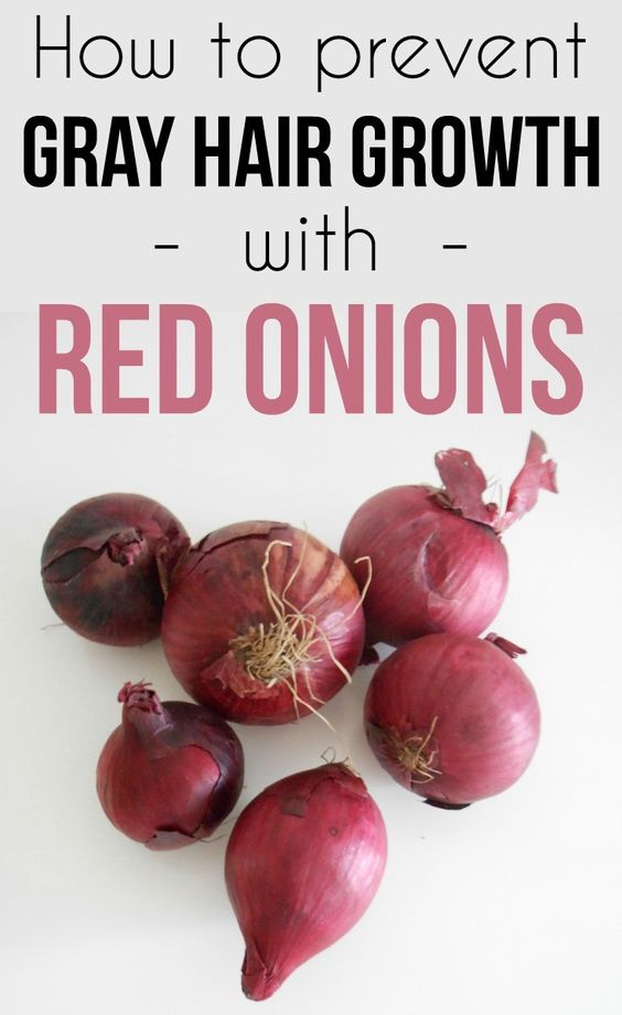 Learn how to prevent gray hair growth with red onions.