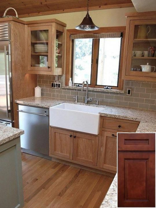 Possibilities Of White Oak Cabinets Lowes Oakkitchencabinets Kitchenisland Craftsman Kitchen Kitchen Remodel Oak Kitchen