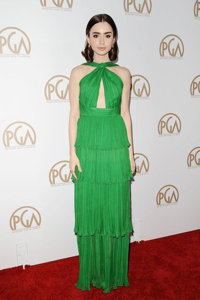 Lily Collins. Producers Guild Awards - January 28 2017