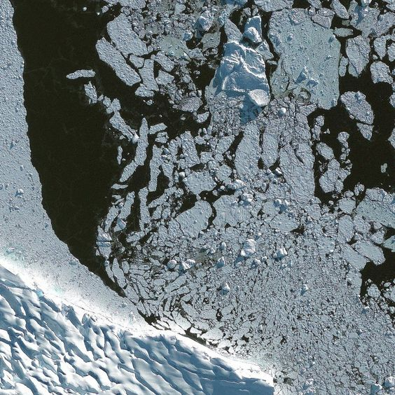 Melting Antarctic ice - last Wednesday, a cold hotspot