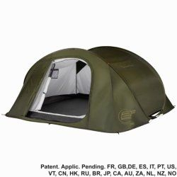 kemping- és túrafelszerelés sátrak sátor - 2 SECONDS IIII sötétzöld