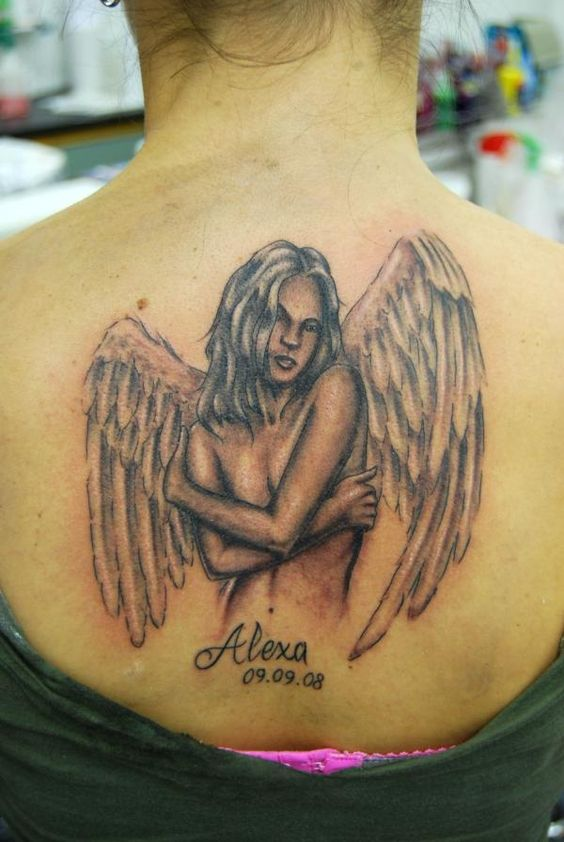 Sexy angel tattoo designs for men sexy angel tattoo with for Sexy angel tattoo
