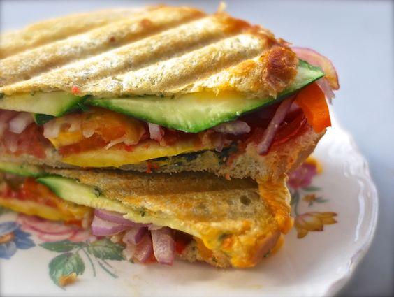 Veggie jack panini melt sandwich with fresh basil pesto | yummy ...